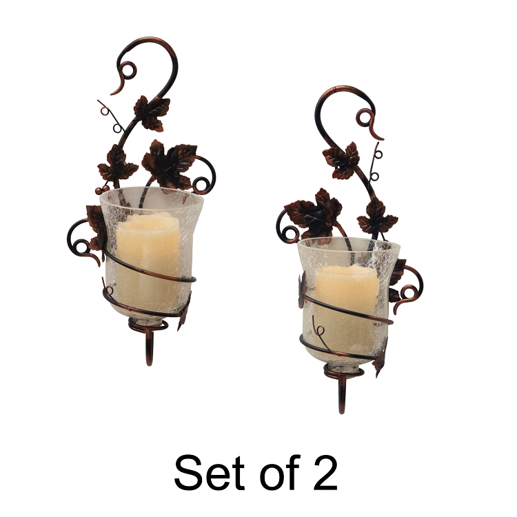 sc 1 st  Flipo Group & Mendocino Flameless Sconces with Vine Styling and Candles
