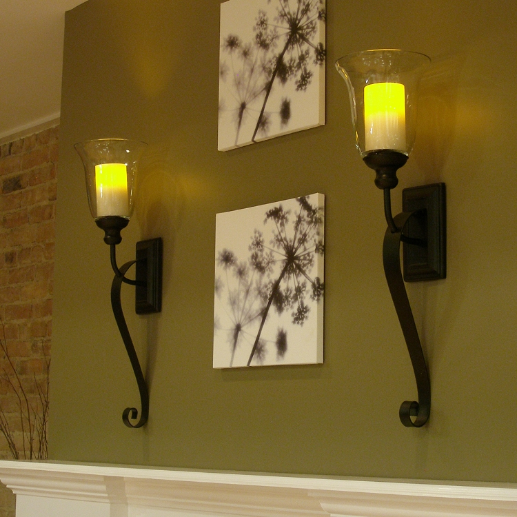 Pacific Accents Flameless Serafina Sconce With Flameless