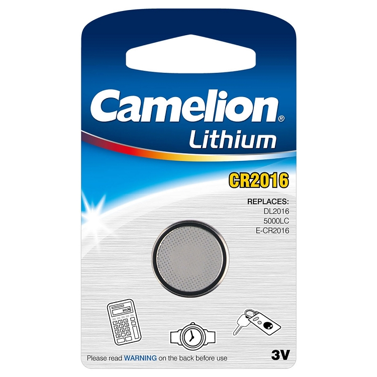 cr2016 3 volt lithium button cell battery. Black Bedroom Furniture Sets. Home Design Ideas