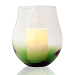 Bordeaux Hurricane with Flameless Candle