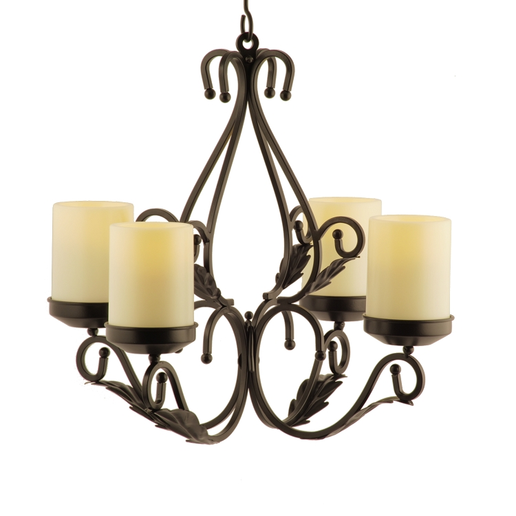 Pacific Accents Charleston Flameless Chandelier Sconces Combo