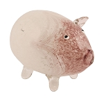 Penelope Glass Pig with Flameless Candle