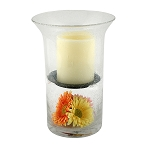 Wilshire Fillable Hurricane with Flameless Candle