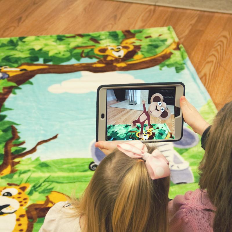 Animates Augmented Reality Jungle Blanket