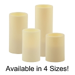 Flameless Resin Pillar Candle with Timer