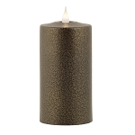 Solare 3D Virtual Flame Candles with Color-Hue Technology Espresso Metal