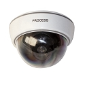Dummy Security Camera Dome with Blinking Light
