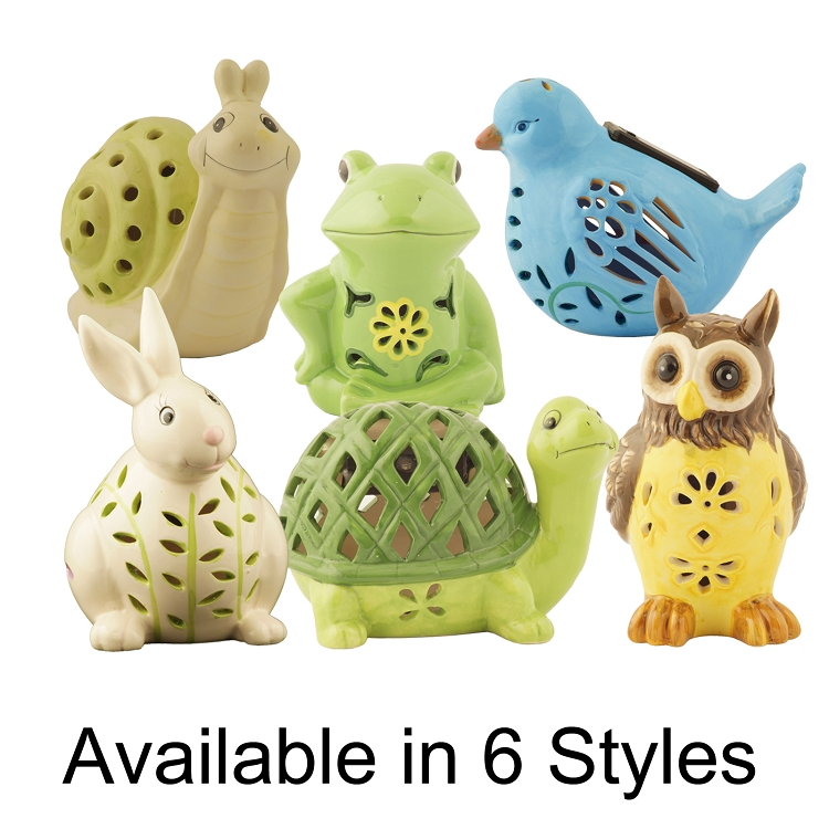 solar powered garden animal figures shopflipocom - Garden Animals