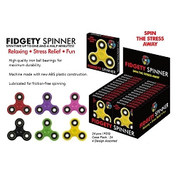 Fidget Spinner assorted color 24pc case