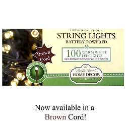 Battery Operated Brown String Lights 100 LED
