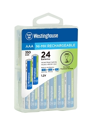 Westinghouse Always Ready AAA Ni-Mh 350mah Solar Rechargeable Battery 24pk