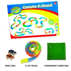 Bend a Path Limited Edition Car and Track Set With Carry Bag