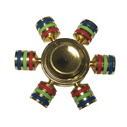 Collectable Gold/Multi Colored Fidget Spinner-6 sided