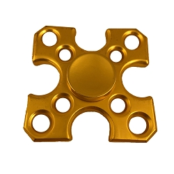 Collectable Gold Arrows Fidget Spinner- 4 sided