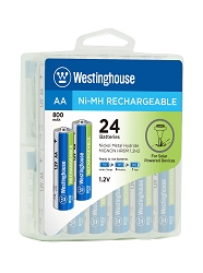 Westinghouse Always Ready AA Ni-Mh 800mah Solar Rechargeable Battery 24pk