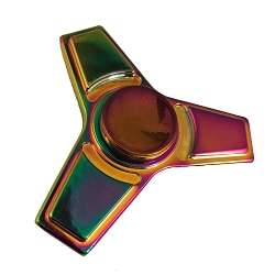 Collectable Rainbow Square Fidget Spinner- 3 sided
