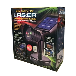 Solar Galaxy Star Laser (Red and Green Light) with UL Adapter