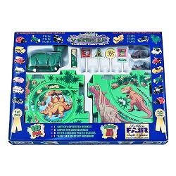 Dinosaur Puzzle Tracks Play Set With Battery-Powered Dinosaur