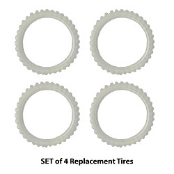 Set of 4 Replacement Tires for Bend a Path Cars