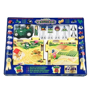 Tractor Puzzle Tracks Play Set With Battery-Powered Vehicle