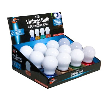Vintage Bulb LED Decorative Light - 12 PC Display