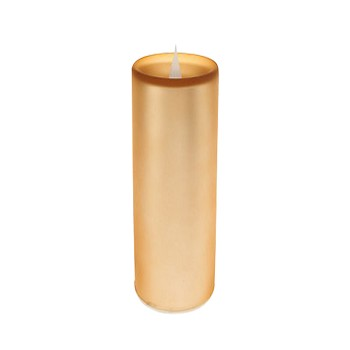 Solare 3D Flameless Candle 3 x 8 Frosted Gold