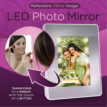 Flipo Reflections Mirror Image Illuminated Photo Frame