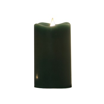 Solare 3D Hunter Green 3x5 Melted Top Flameless Candle