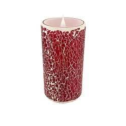 Solare 3D Virtual Flameless Candles 3x6 Mosaic Red