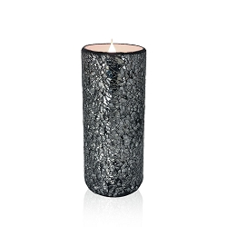 Solare 3D Virtual Flameless Candles  3x8 Mosaic Silver