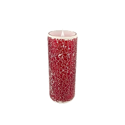 Solare 3D Virtual Flameless Candles  3x8 Mosaic Red