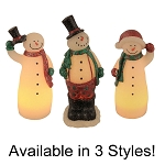 Chilly Chums Sculpted Snowmen Flameless Candle