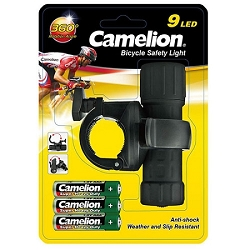 9 LED Bike Safety Light by Camelion
