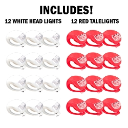 Micro FlexView LED Bike Light - 24 PC Bundle