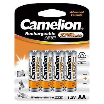 Rechargeable AA Ni-MH 2700mAh Batteries 4 Pack