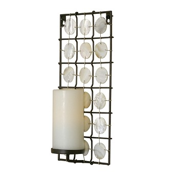 Equinox Flameless Candle Sconce with Shells