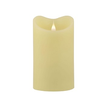 Solare 3D 3.75 x 6.5 Ivory Flameless Melted Wax Candle