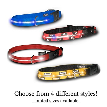 Visiglo Illuminated Collar with Dual Function LED